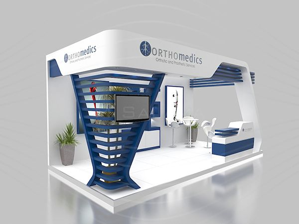 Expo Stands Kioska : Orthomedics booth on behance exhibitor exhibition booth design