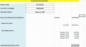 Looking For Bank Reconciliation Statement Form Use In Banking