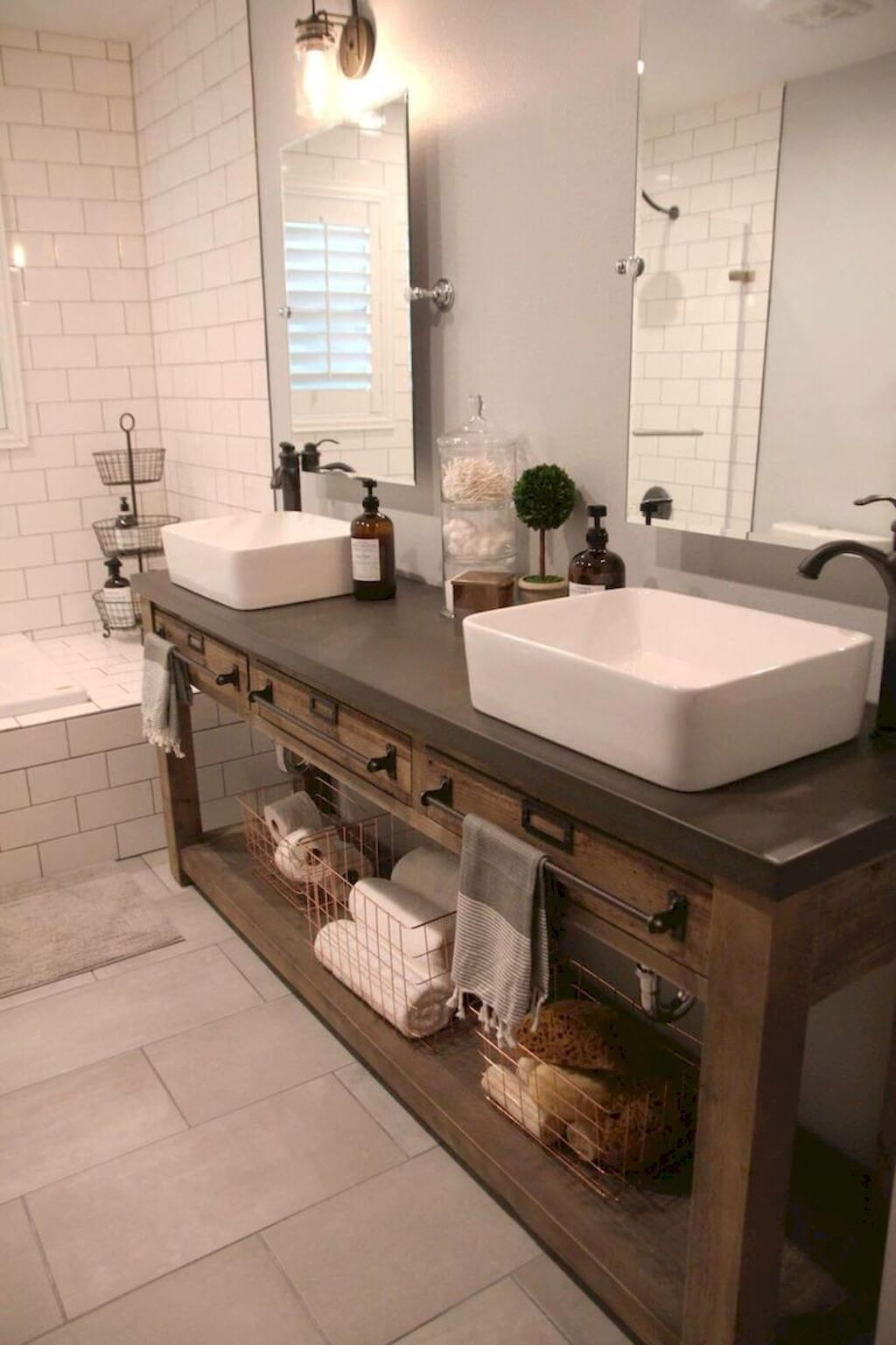 Photo of 35 Best Rustic Bathroom Vanity Ideas and Designs for 2020