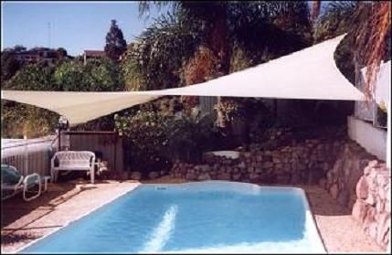 16 Foot Quadrilateral Sun Shade Canopy Sail with Hardware - 20012 & Image result for shade sails over pools | Pools and pool ...