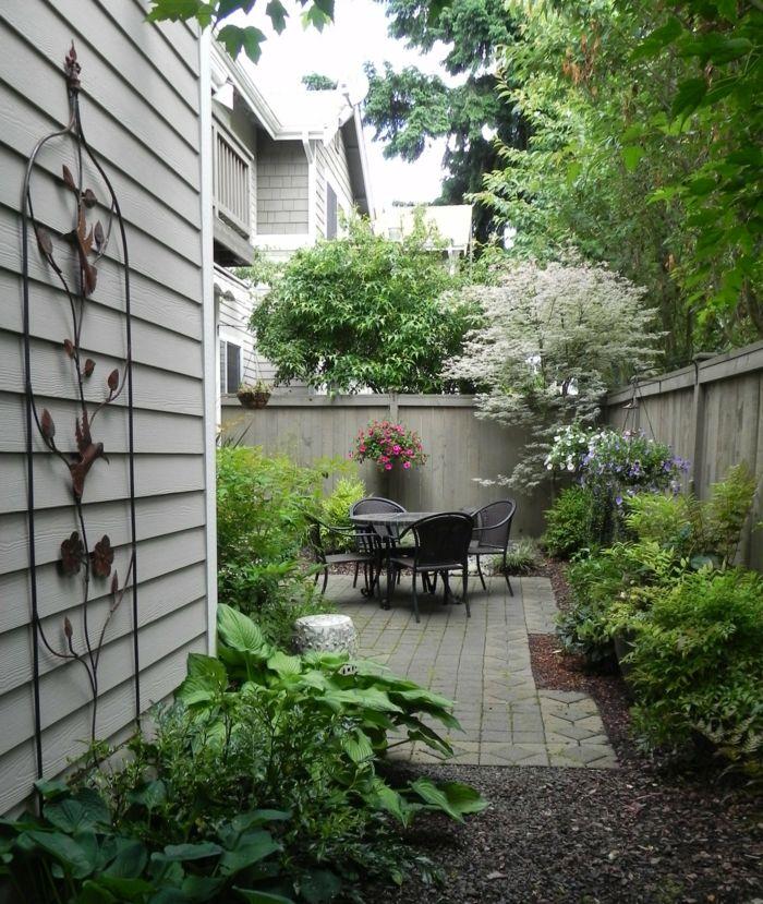 Kleinen Garten Gestalten Ideen Pflanzen Gartenmöbel | Ideen Rund ... Kleinen Garten Gestalten Bilder