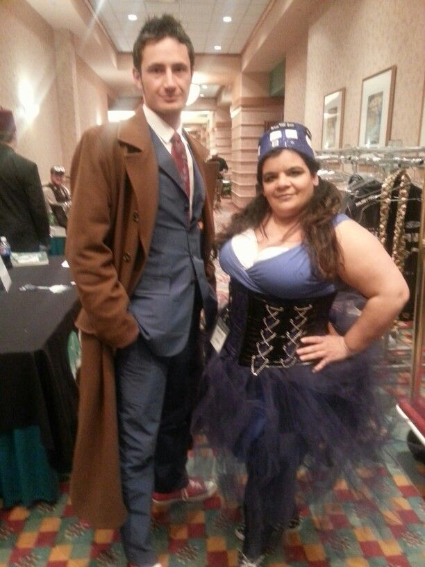 Tardis cosplay with the doctor