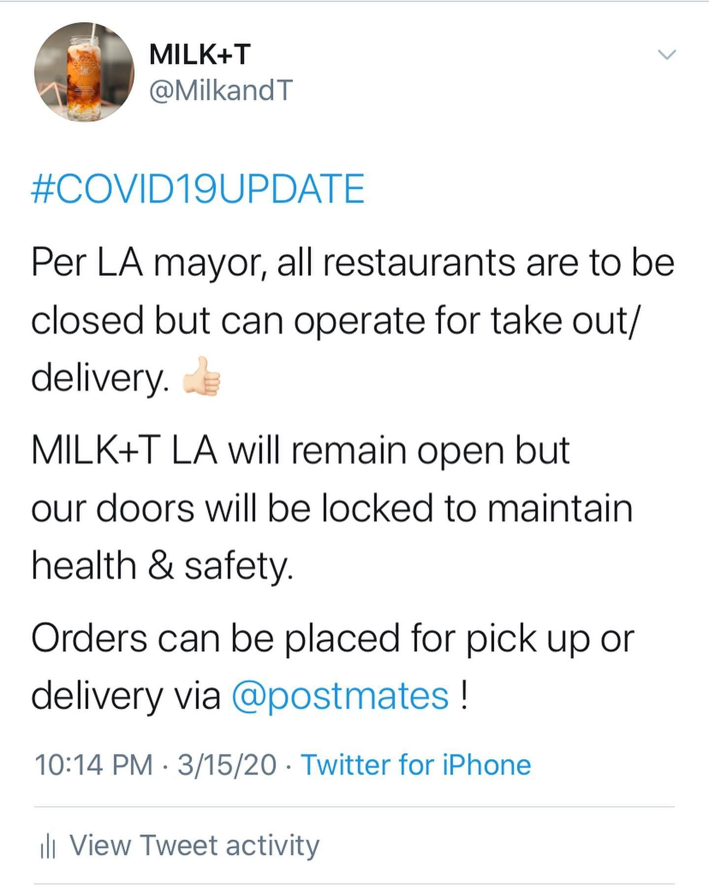 Los Angeles Only Please Read And Swipe Hey Milk T Family Stacey And Beyah Here Again This Is Our Thir In 2020 Maintaining Health Postmates Health And Safety