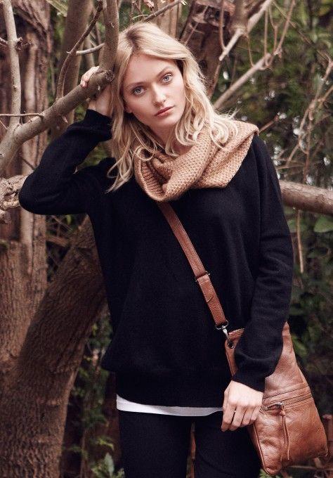 Black Cashmere Madeleine Jumper | Knitwear, Loungewear | hush | hush-uk.com Looooove.