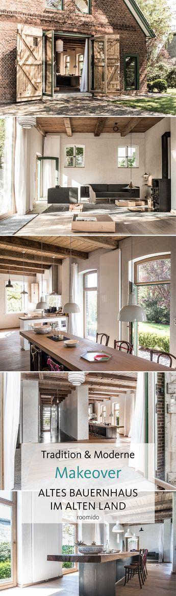 Liebevoll saniert Moderne Landhaus-Idylle bei Hamburg Interiors - esszimmer im wohnzimmer
