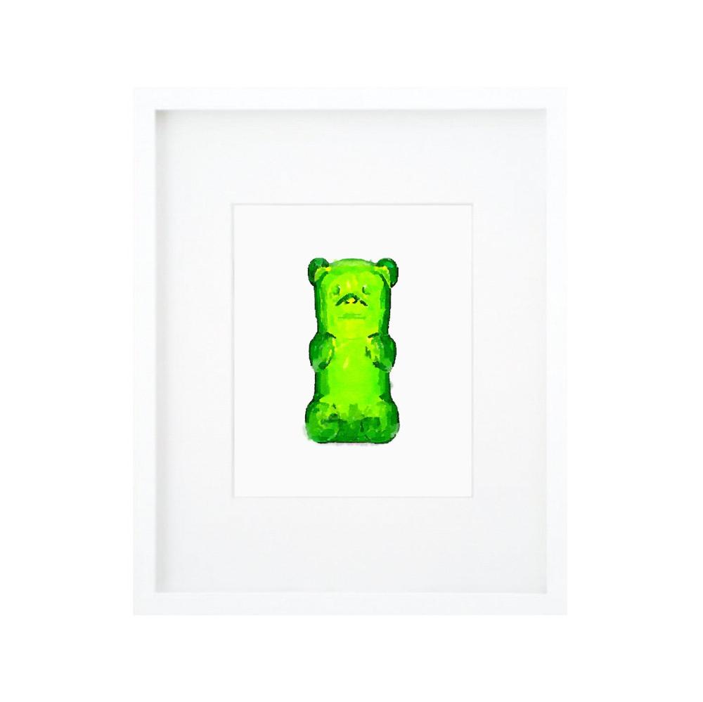 Gummy Bear Print Gummy Bear Art Green Kids Wall Art Green Etsy Bear Art Art Wall Kids Lucky Art