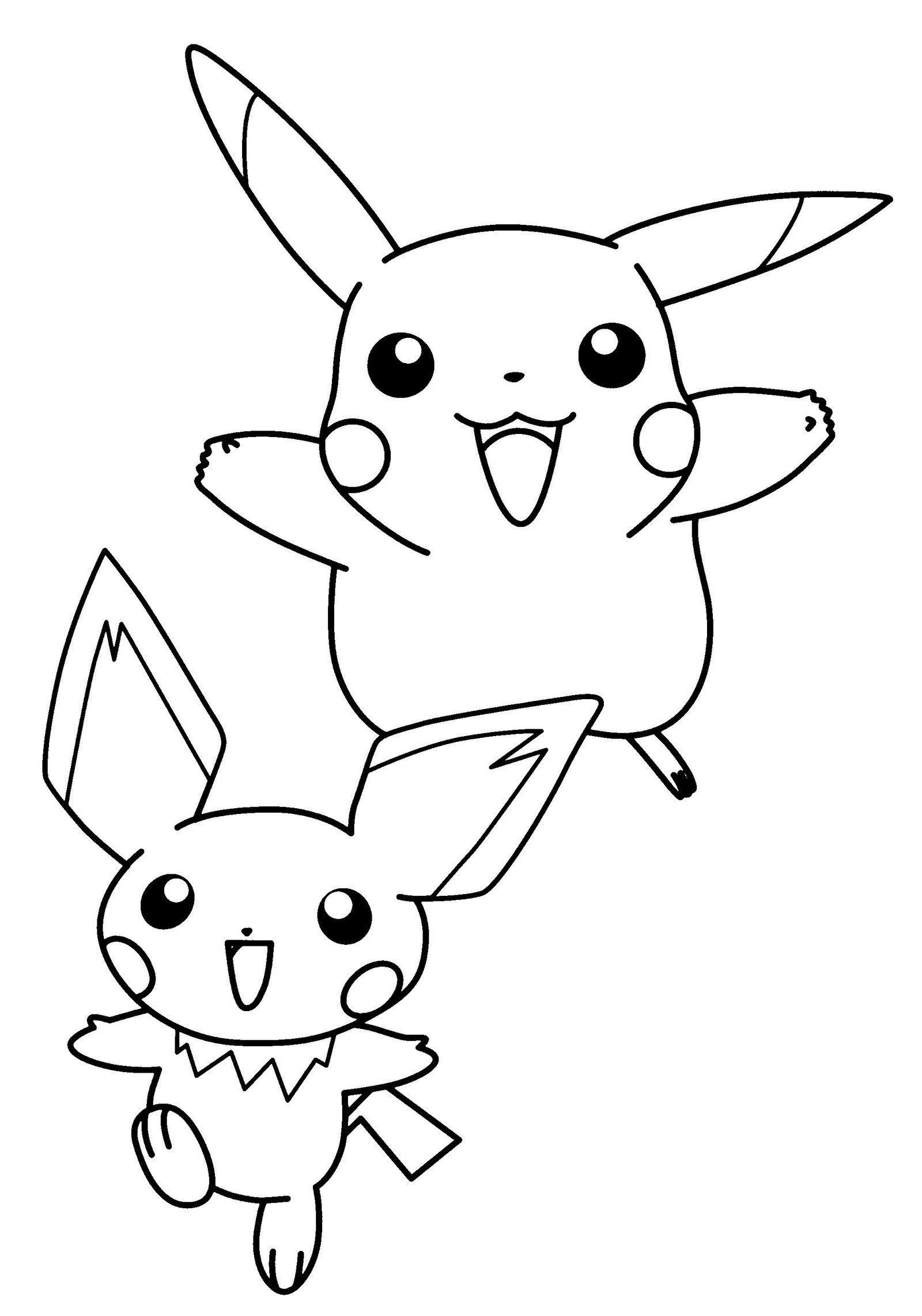 Pretty Cute Pichu Coloring Picture Kleurplaten Pokemon Kleuren