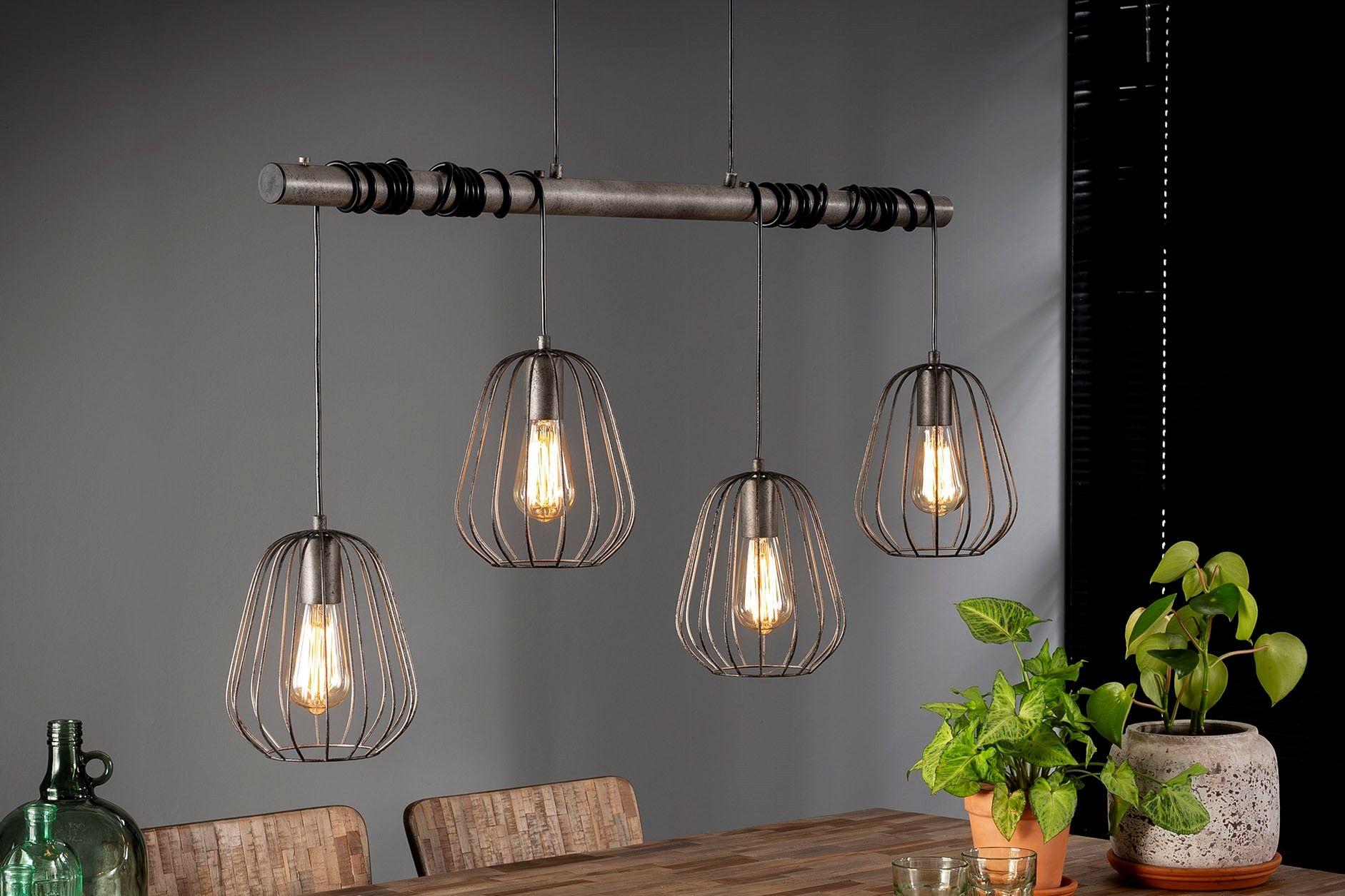 Details zu LED Decken Hänge Lampe VINTAGE Filament RETRO HOLZ Leiter Pendel Leuchte Dimmbar