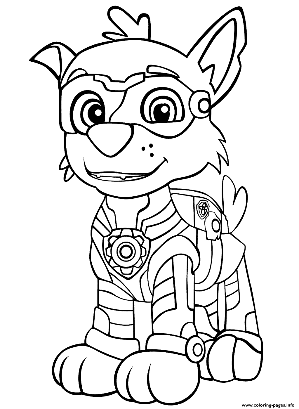 Print PAW Patrol Mighty Pups Rockys coloring pages in 2020 ...