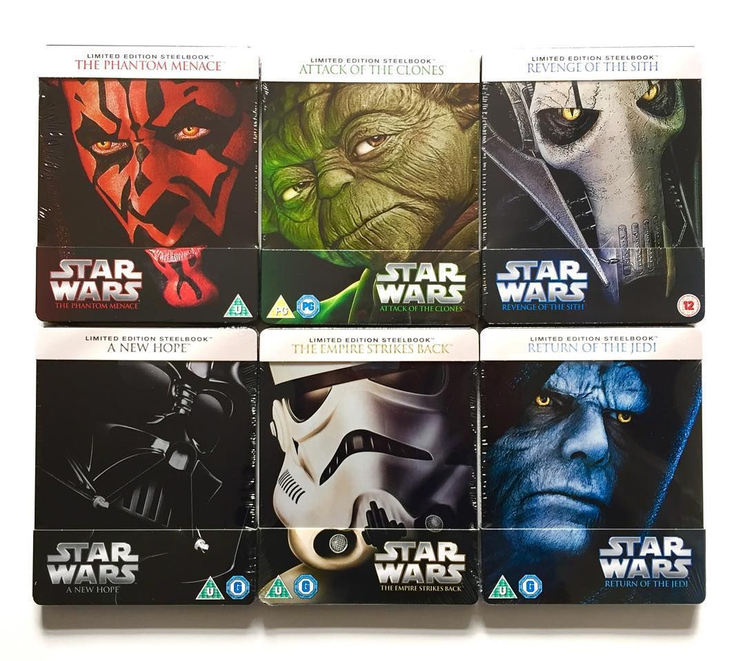 Star Wars Steelbooks Via Memboreham Star Wars Episodes Star Wars Collection Star Wars Fan Art