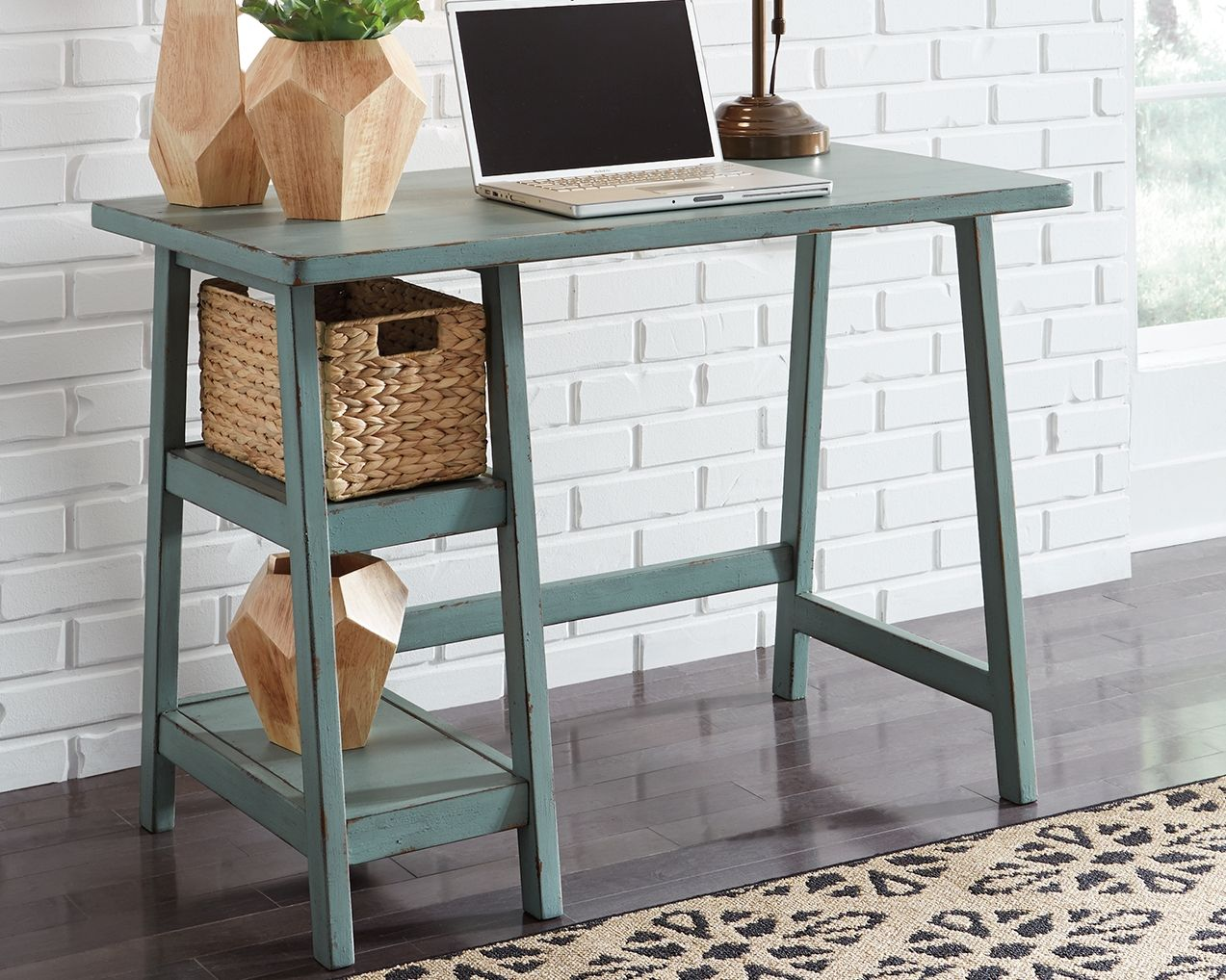 Mirimyn Small Home Office Desk Ashley Furniture Signature Design 2 Shelves