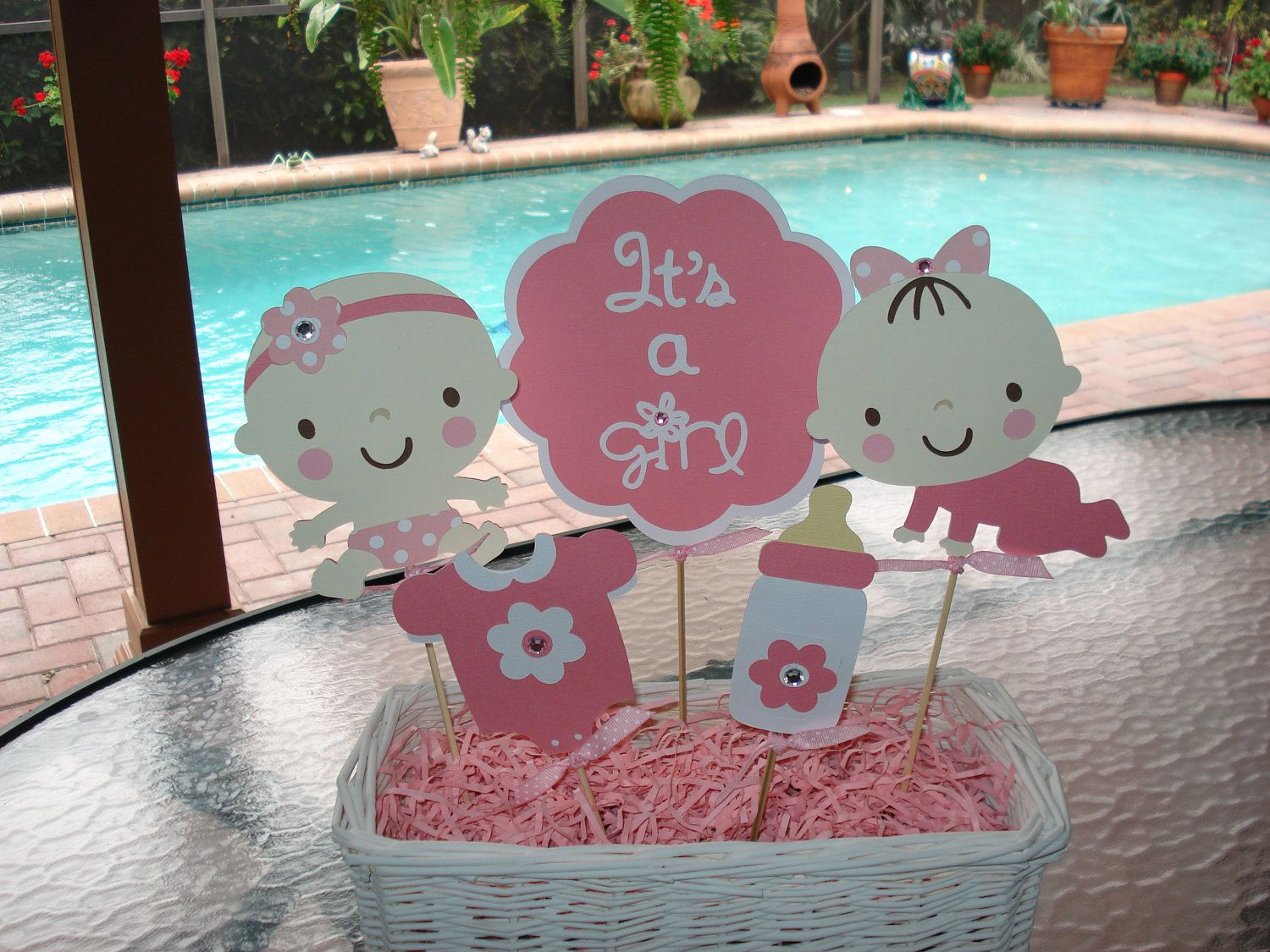 Images about baby shower on pinterest centerpieces unique baby - Baby Shower Centerpieces Baby Shower Centerpiece Set Of 5 Picks Baby Shower Gift