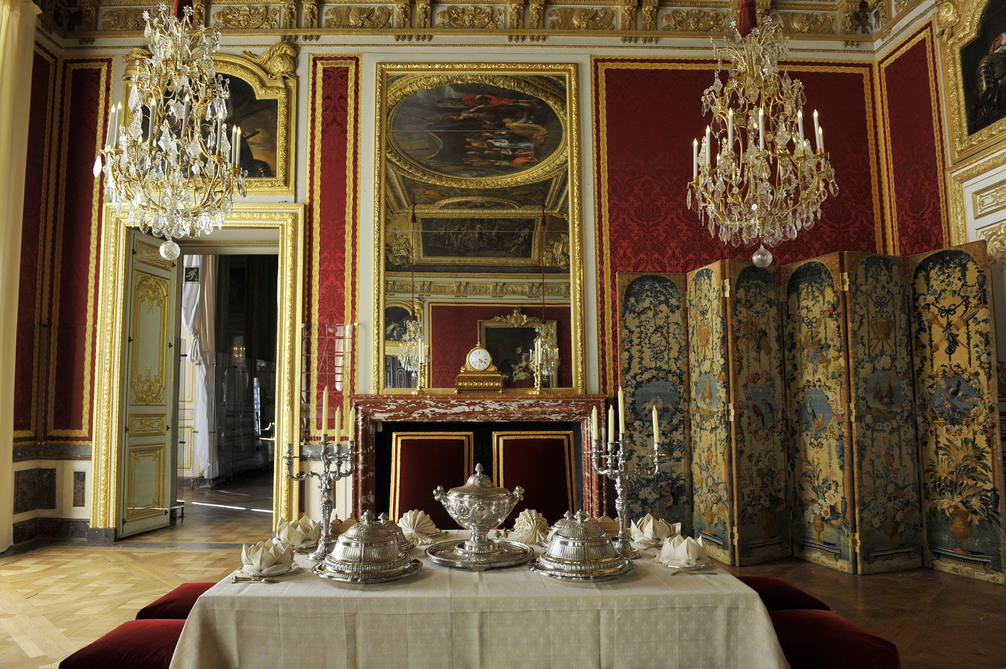 vue actuelle de l 39 antichambre du grand couvert de la reine versailles castle france. Black Bedroom Furniture Sets. Home Design Ideas