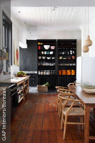 Holzdielen im Shabby Chic Arbeitsflächen aus Holz, Holzdielen - holzdielen in der küche