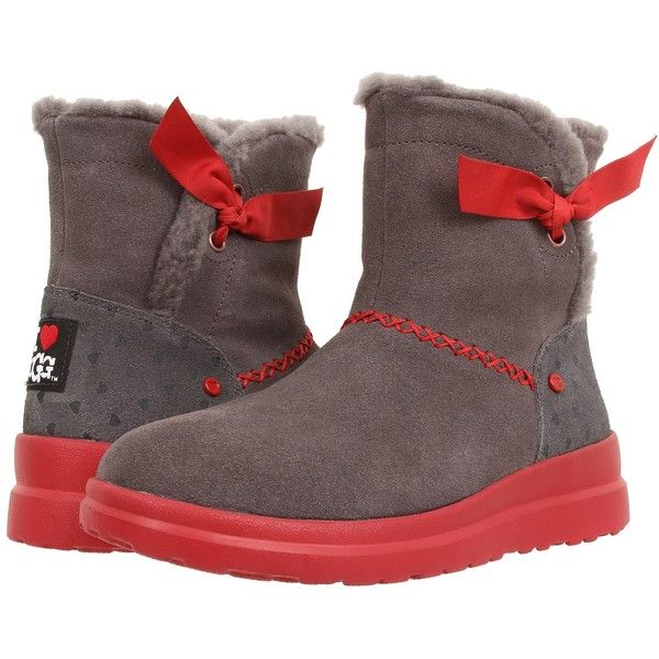Womens Boots UGG Knotty Grey Hearts Suede