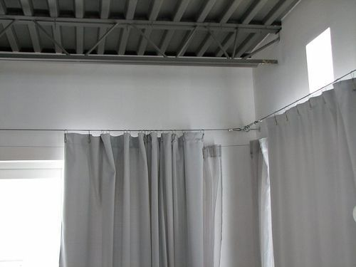 My Friend The Wire Rope Diy Curtains Hanging Curtains Window Treatments Bedroom