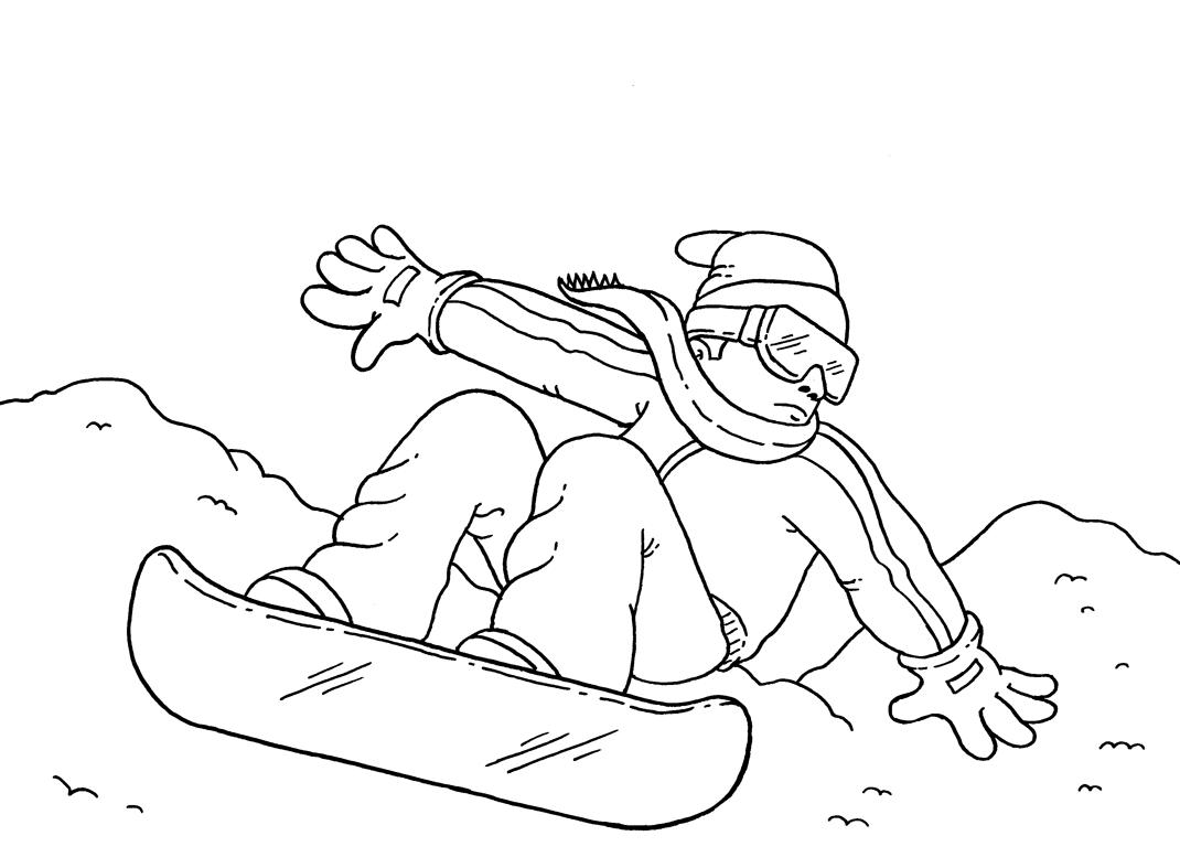 Snowboard Malvorlage