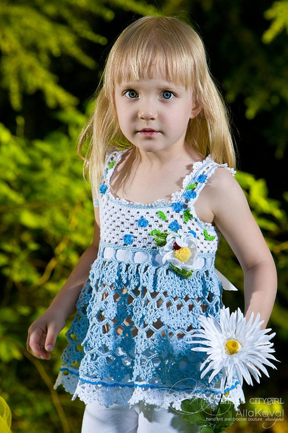 CROCHET PATTERN Forget Me Not Tunic Top & Daisy Pin Crochet Pattern ...
