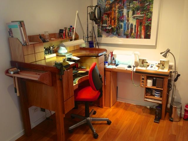 Butcher Block Workbench >> The Handmade Jewelry tips work area | Jewellers bench ...