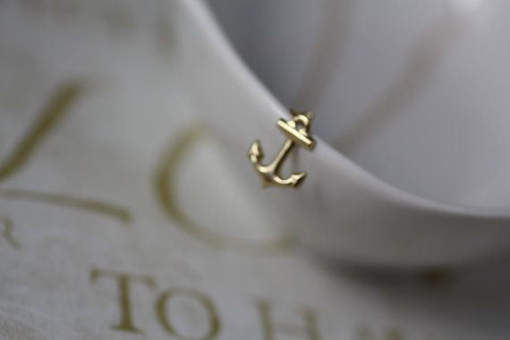 My Tiny Anchor 14K Gold Filled Charm Minimalist Necklace Jewelry