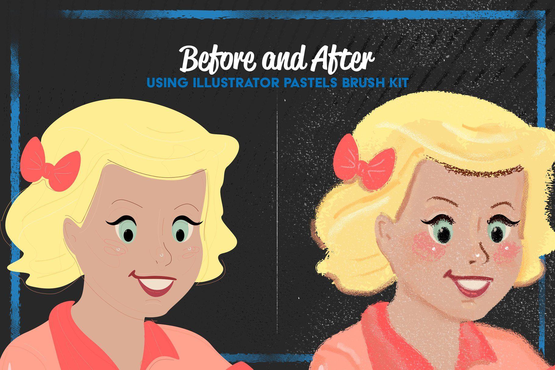 Pastels Illustrator Brush Kit Illustratorpastelsbrushbrushes
