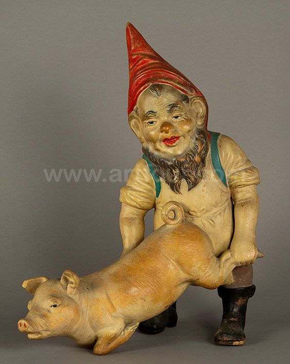 We Just Went To An Auction Last Week A Metal Garden Gnome Like This For 330