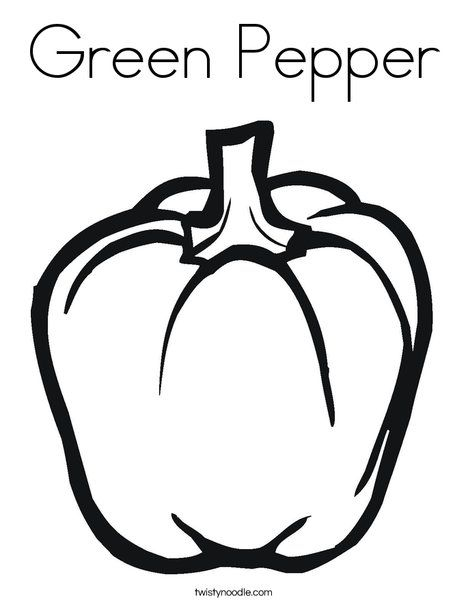 Green Pepper Coloring Page Twisty Noodle Stuffed Green Peppers