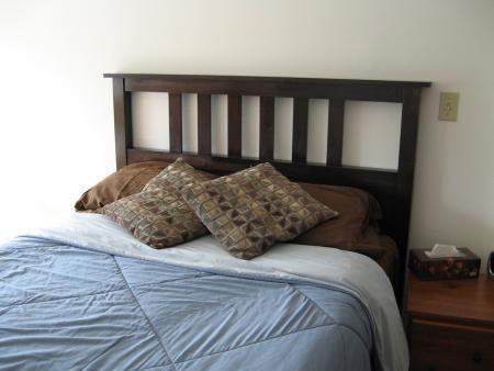 DIY Furniture  DIY Full Size Slatted Headboard Dream Home
