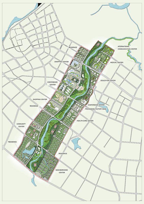 Dingan Riverfront & Urban Master Plan   Diagrams   Urban
