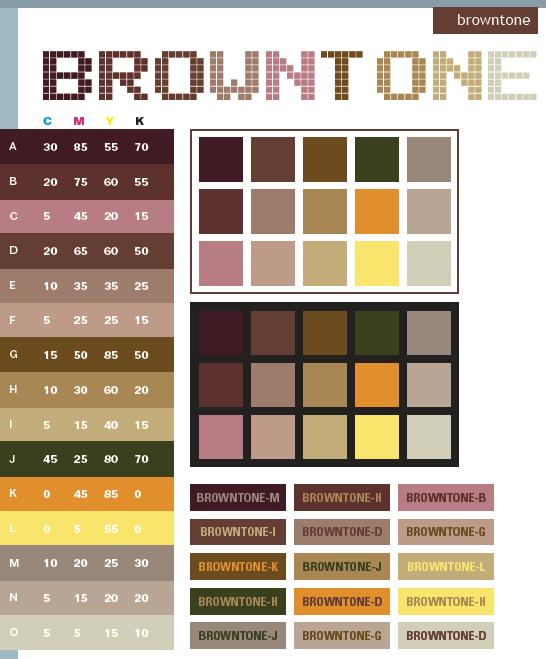 Brown Browntones Combination Colorscolor
