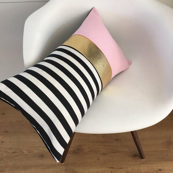 decorative pillow cover black white stripe pillowpretty black - Black And White Decorative Pillows