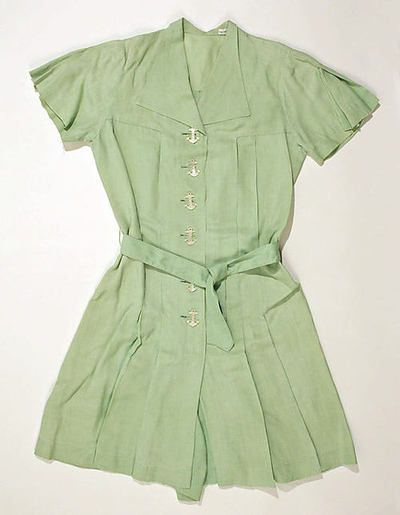 Linen and cotton playsuit, Met, 1940s