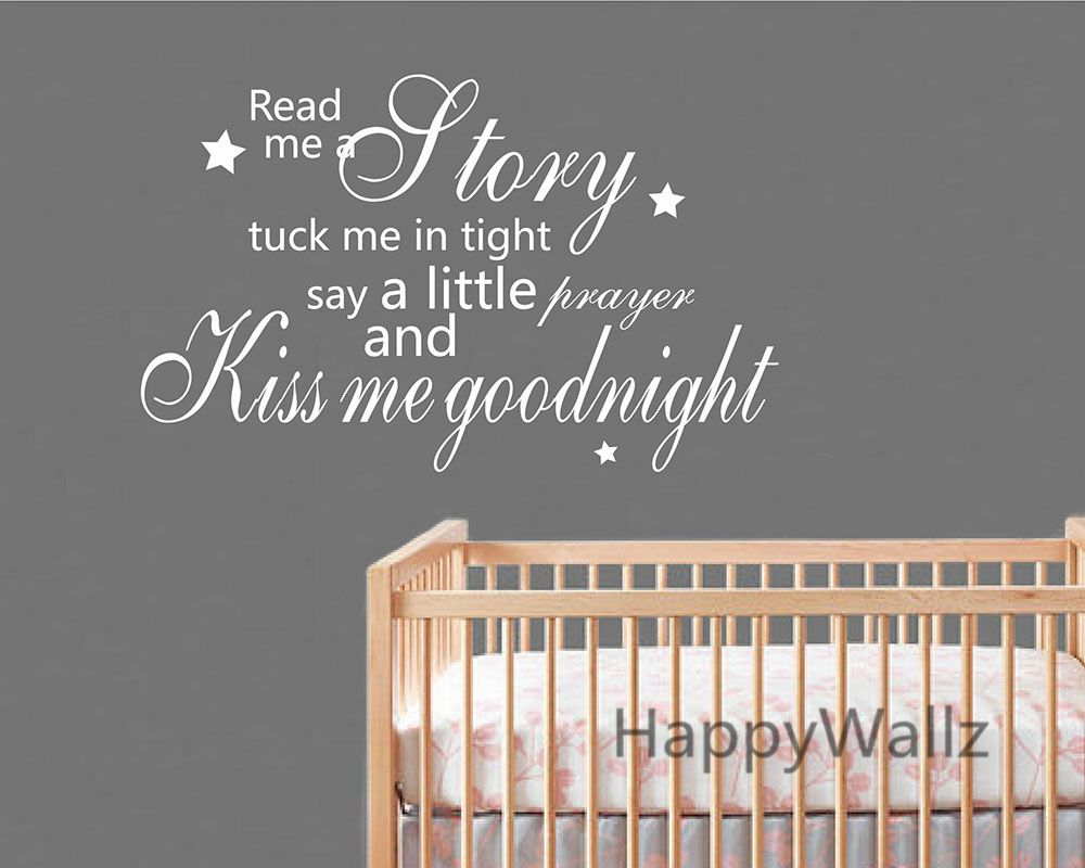 Kiss me goodnight quote wall sticker baby nursery kiss me kiss me goodnight quote wall sticker baby nursery kiss me goodnight children quote wall decal kids room diy girls wallpaper interior decorating amipublicfo Gallery