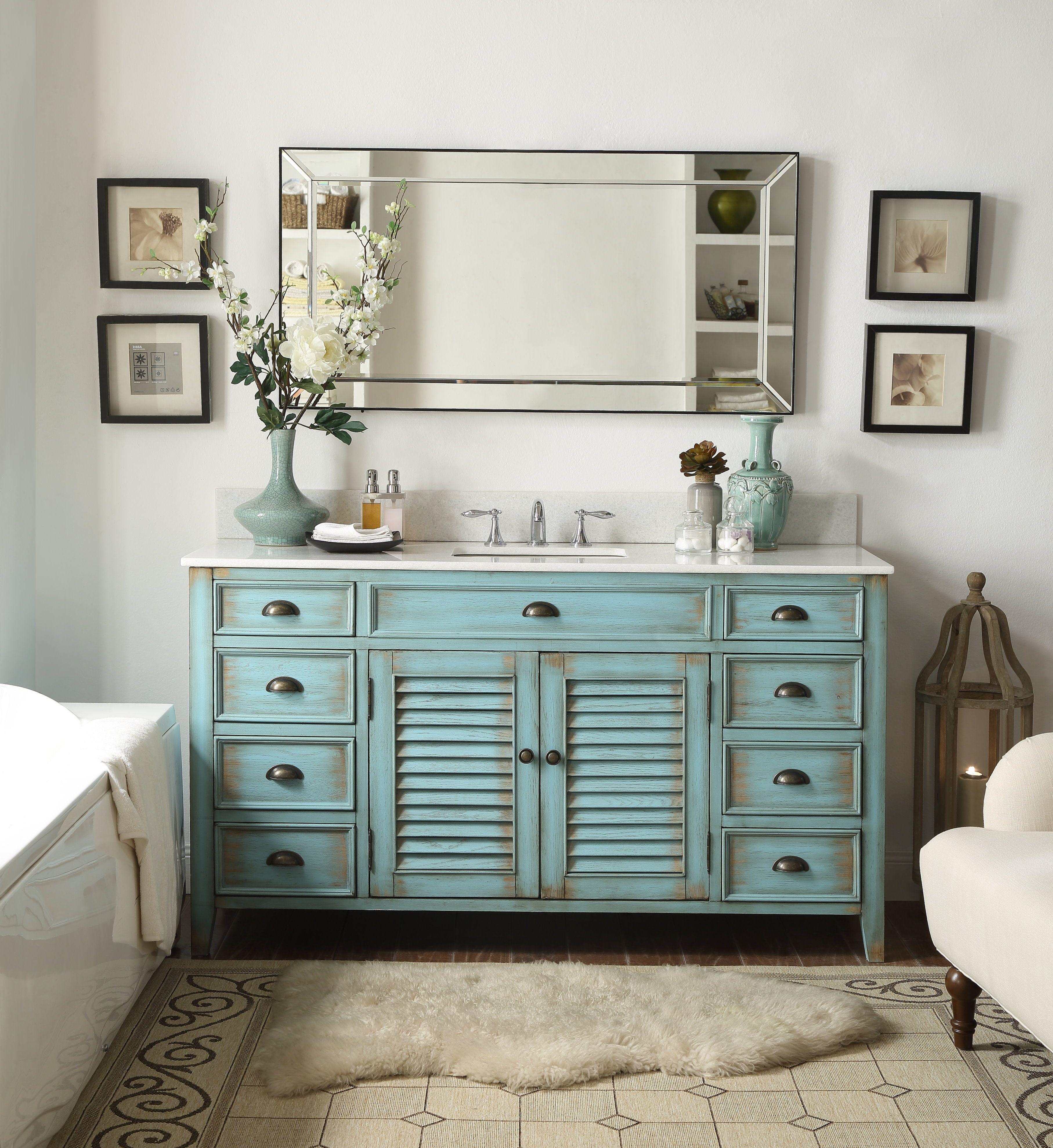 60 beautiful antique blue abbeville single sink bathroom on vanity for bathroom id=23691