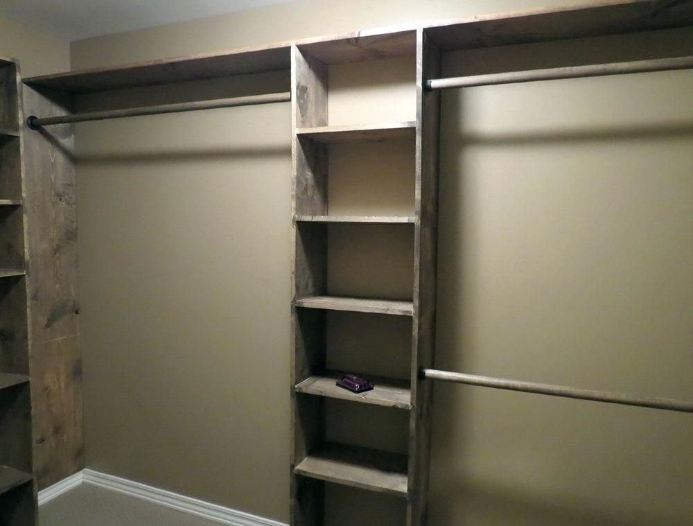 Cheap Closet Systems Closets Organizers And Ladder Shelf Diy