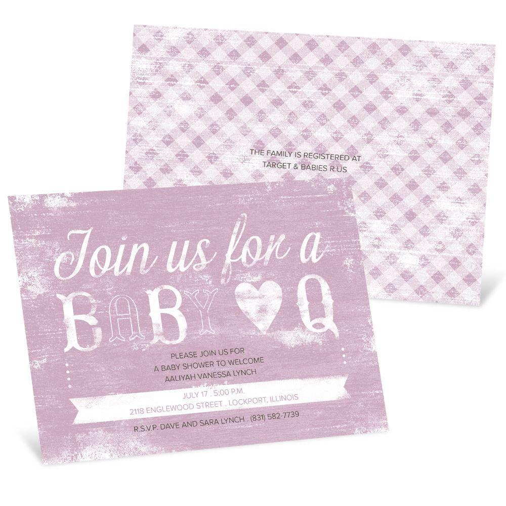 Bbq baby shower invitation pear tree bbq baby shower