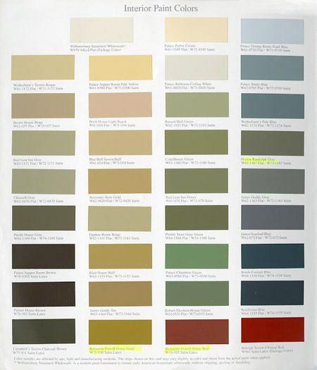 Williamsburg Paint Colors Martin Senour Paints Collection