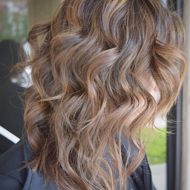 Sandy brown. Balayaged with Wella blondor lightener and ...