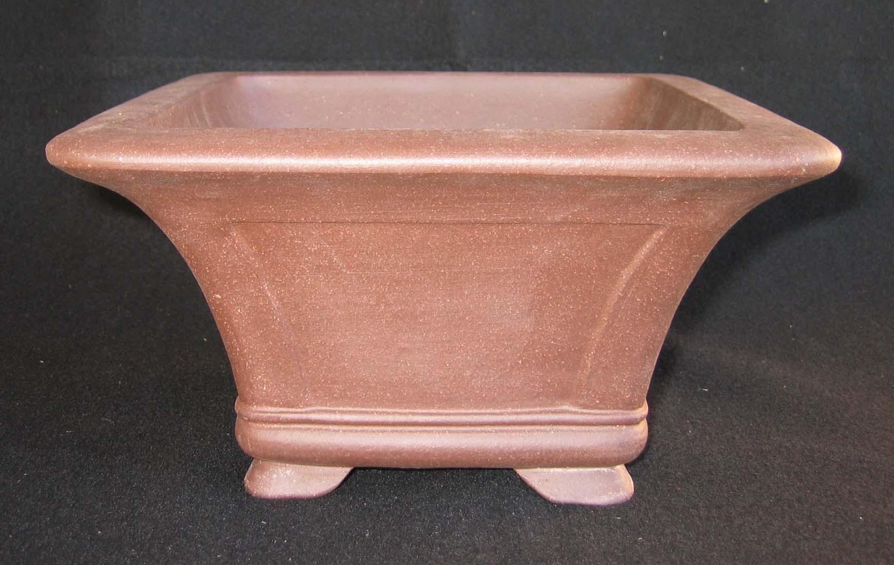 "10""x10""x5.5"" Exhibition Cascade Bonsai Pot, K81f"