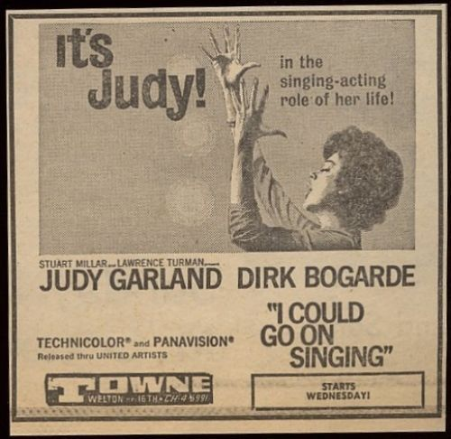"""Judy Garland in """"I Could Go on Singing"""".........For more classic 60's and 70's pics please visit & like my Facebook Page at https://www.facebook.com/pages/Roberts-World/143408802354196"""