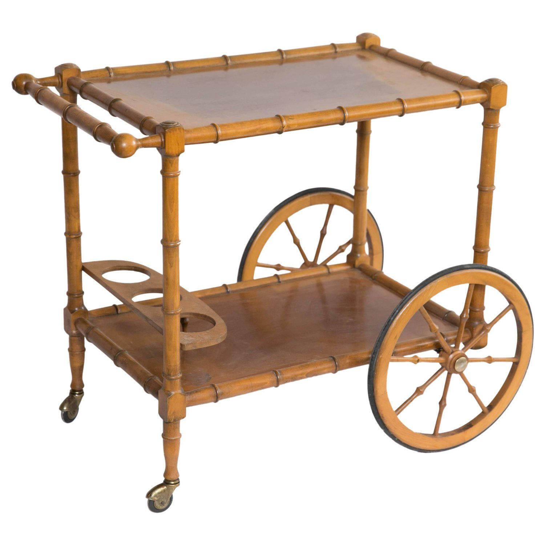 bamboo bar cart. Faux Bamboo Bar Cart