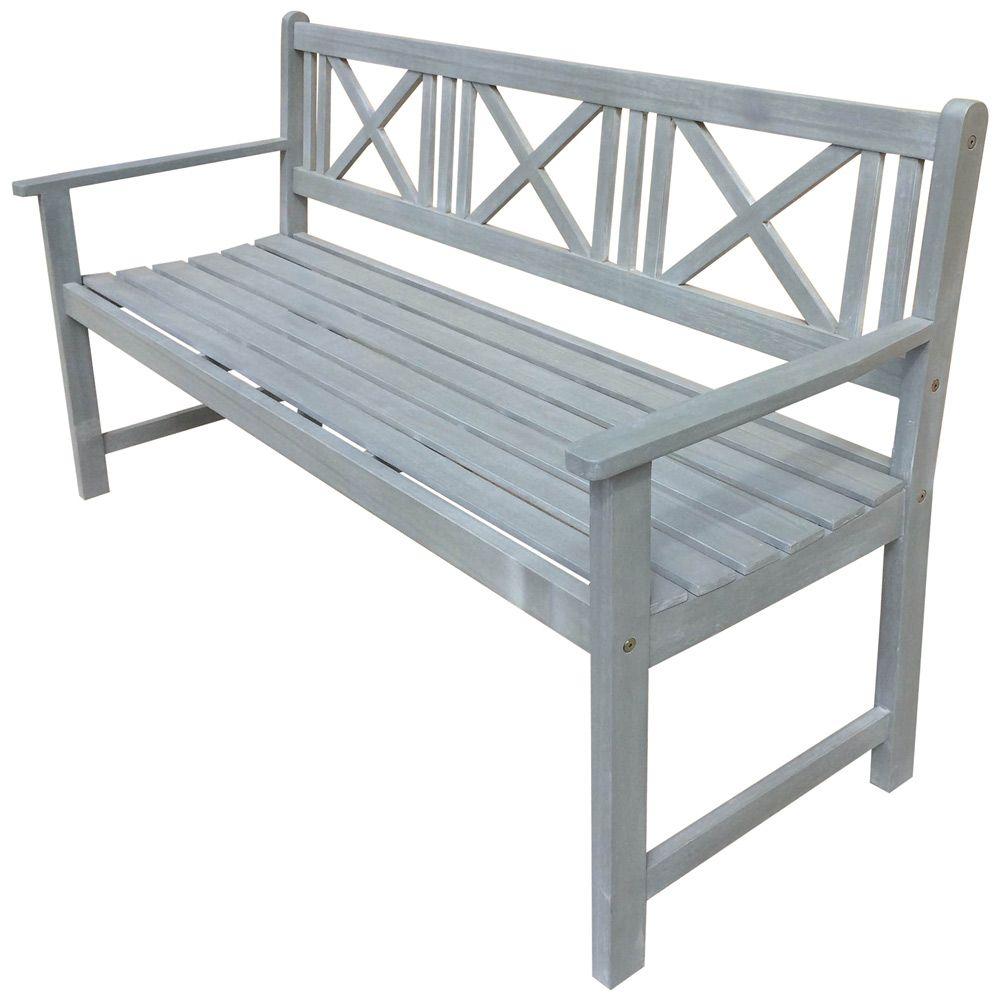Buy luxo newport 3 seater grey wash timber outdoor bench online australia
