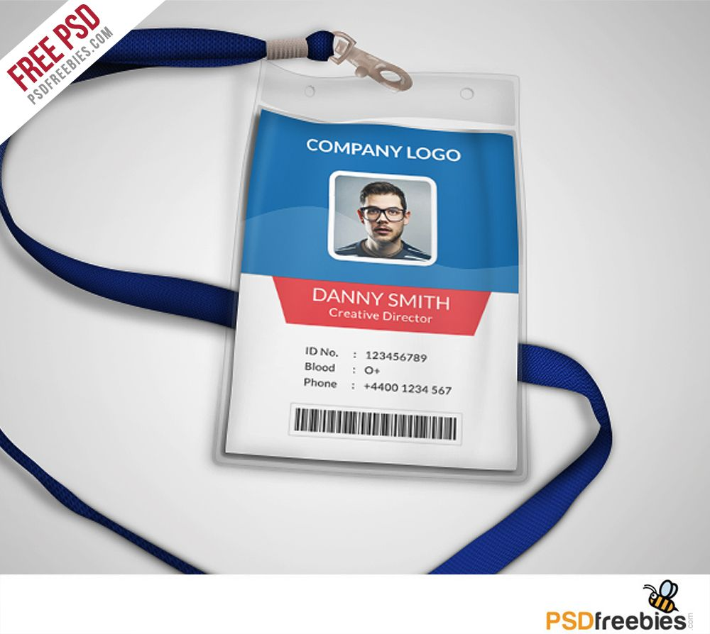 Multipurpose Company ID Card Free PSD Template | Psd templates ...
