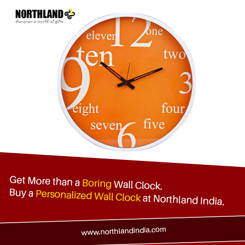 Say goodbye to dull, boring wall #Clocks. we offer #Personalized wall clocks at affordable prices. check out our offerings here: www.northlandindia.com
