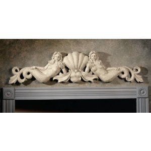 Mermaid Architectural Wall Pediment Perfect Above Your Bathroom