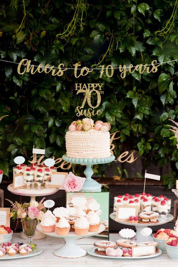 cake topper banner th birthday decorations decor also rh in pinterest