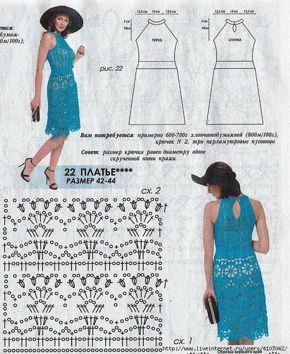 Платья с ажурными мотивами описание. Женское платье крючком для начинающих | Я Хозяйка