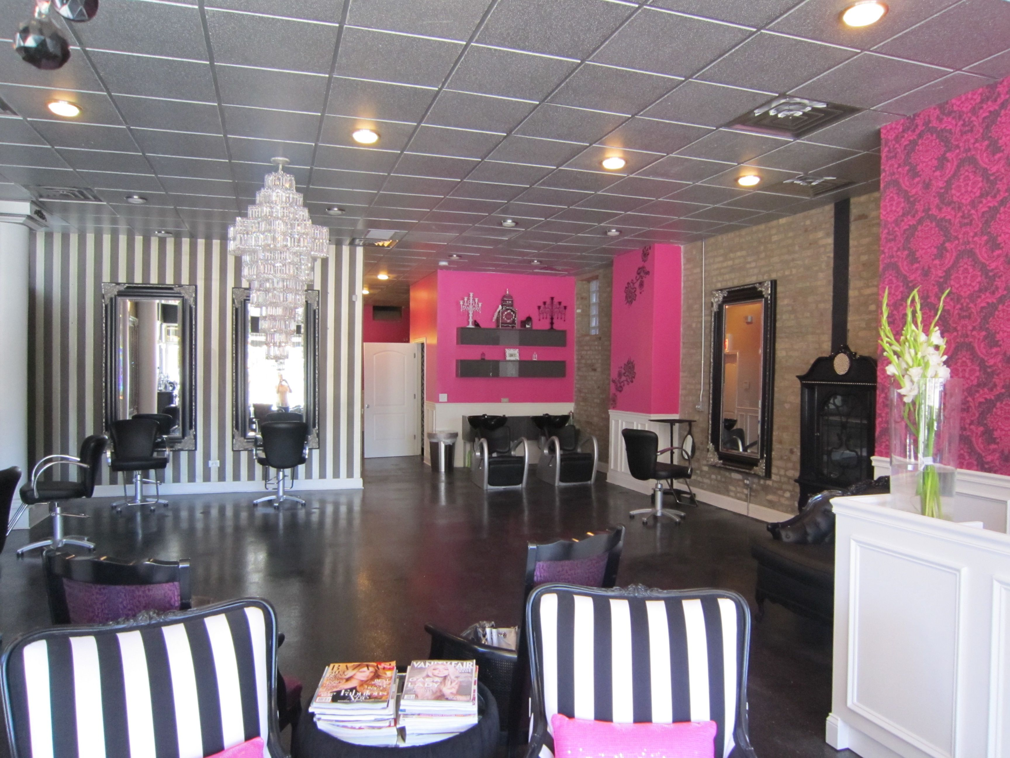 Pink Nail Salon Chairs 2 Seat Outdoor Table And Put Pedicure Chair Manicure Etc Behind That