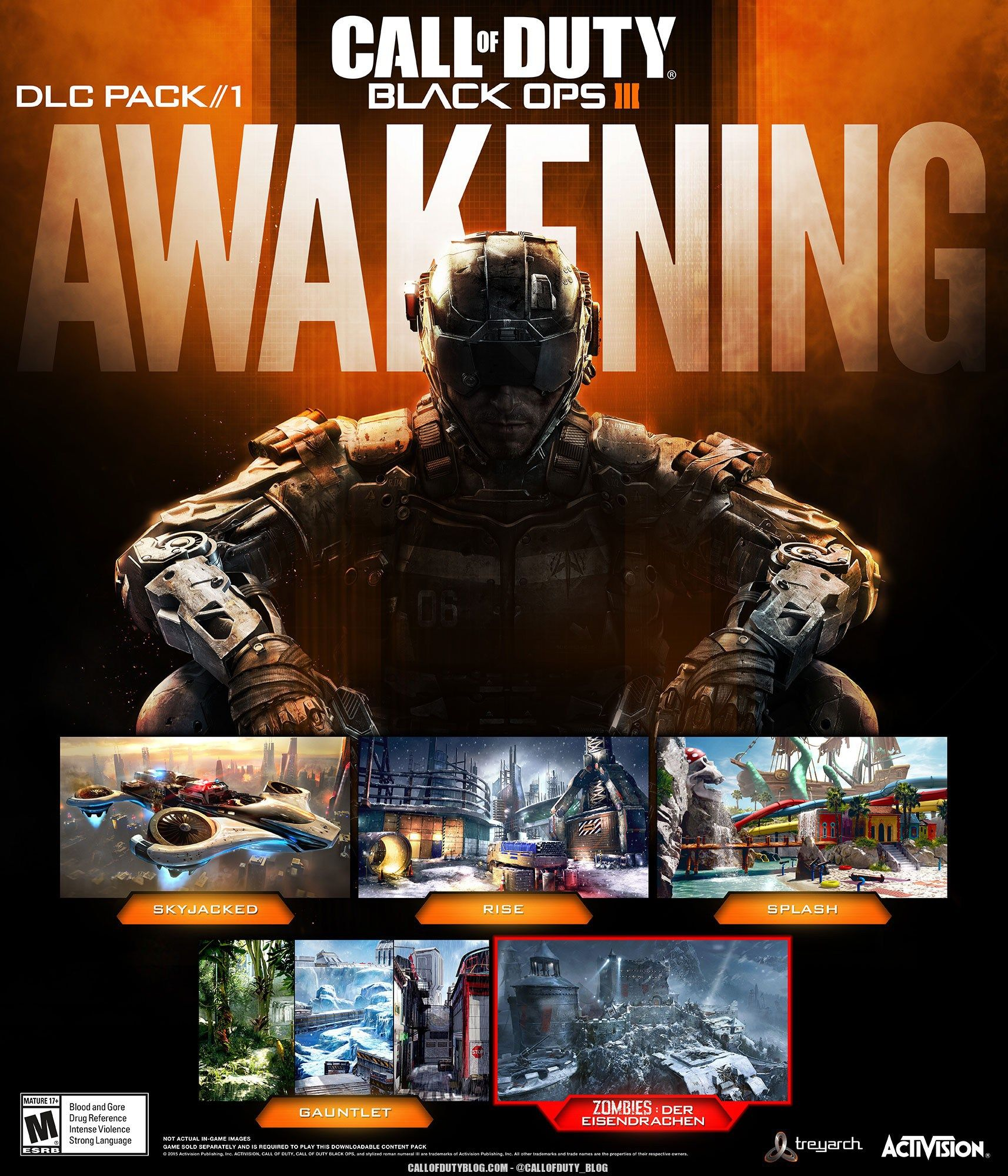 Awakening DLC Pack Announced For Black Ops Call Of Duty - All of us remastered bo3 zombies maps