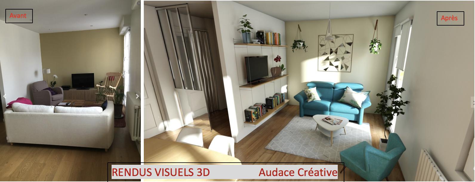 """Home Staging Photos Avant Après le home staging virtuel 3d avec photos """"avant"""" et rendus"""